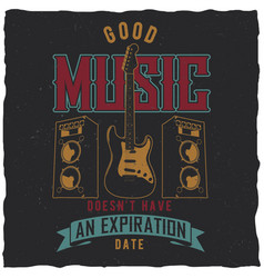 good music poster vector image vector image