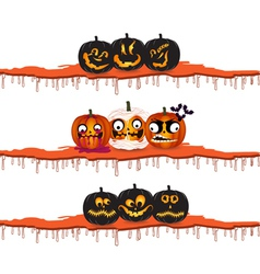 halloween pumpkins design elements vector image
