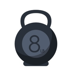 Isolated kettlebel weight of fitness gym vector