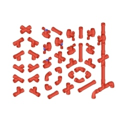 Isometric pvc plumbing vector