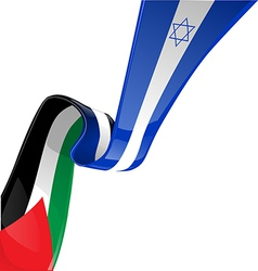 Israel and palestine flag vector