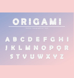 Modern origami paper cutout creased font creative vector