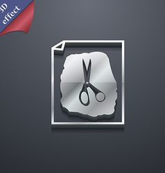 Rock scissors paper poster icon symbol 3d style vector