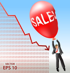 Sales plan disaster vector image