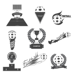 Set Football vector image vector image