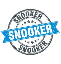Snooker round grunge ribbon stamp vector