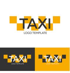 taxi logo logo template logotype concept vector image vector image