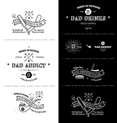 Trendy Retro Vintage Insignias - tattoo Badges vector image vector image
