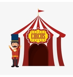 Welcome host tent circus design vector