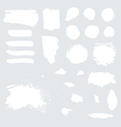 white grunge watercolor ink texture set vector image vector image