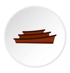 Wooden boats icon flat style vector image vector image