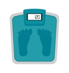 Scale weight fitness lifestyle vector