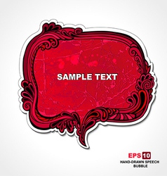 Retro style red speech bubble vector image