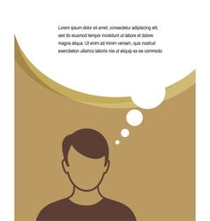Man with speech bubbles vector