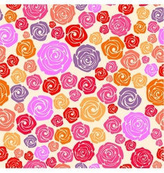 Colorful rose seamless pattern vector
