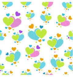 Cute carrtoon hearts for scrapbook paper vector