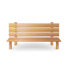 Wooden bench realistic  single vector