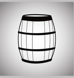 wine barrel wooden image vector image