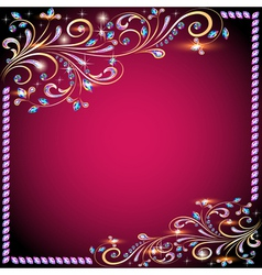Background image with precious stones vector