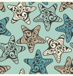 seamless pattern with highly detailed stars vector image