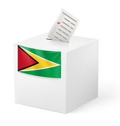 Ballot box with voting paper guyana vector