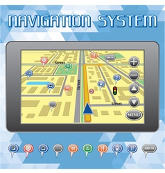 Navigation system for cars and internet vector