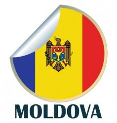 moldova sticker vector image