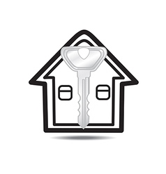 Keys and house isolated vector