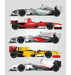 Racing cars vector