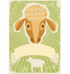 sheep grunge vector image