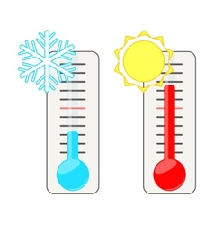 Two thermometers vector