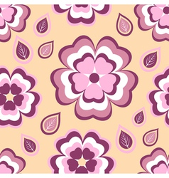 Seamless pattern flower sakura and leaf vector