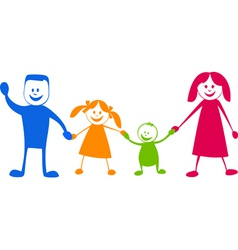 Happy family cartoon illustra vector