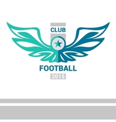 Logo template soccer football team wings vector