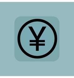Pale blue yen sign vector