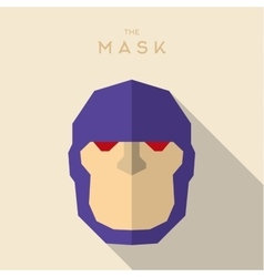 Mask flat hero villain superhero style icon vector