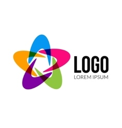 Abstract logo template layout abstract vector