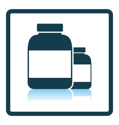Pills container icon vector