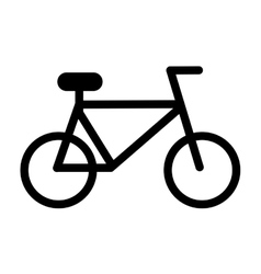 Bicycle silhouette isolated icon design vector