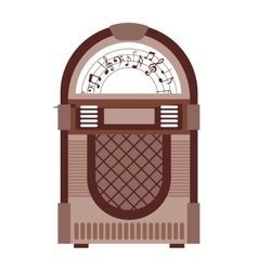 Jukebox isolated icon design vector