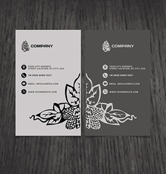 Business card beer company vector