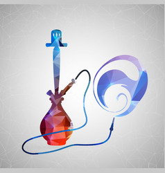 abstract creative concept icon of hookah vector image vector image