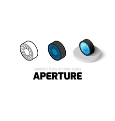 Aperture icon in different style vector image vector image