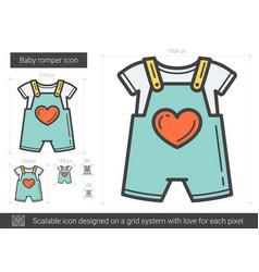 Baby romper line icon vector