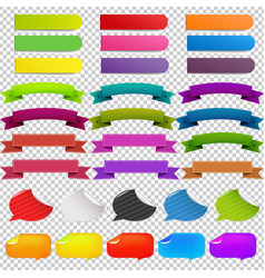 big set web ribbons vector image vector image