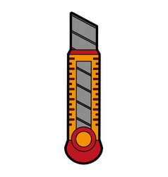 Blade cutter stationery tool icon image vector
