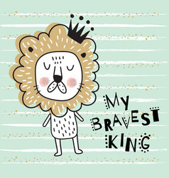 brave lion body vector image vector image