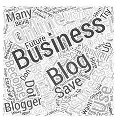 Business blogging word cloud concept vector