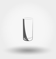 classic glassful icon vector image vector image