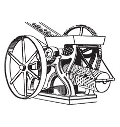 Cross mill and sieves vintage vector